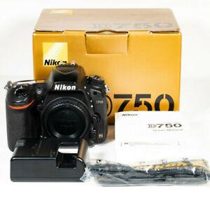 Nikon D750 24.3mp FX Full Frame DSLR Camera Body - New Shutter Fitted