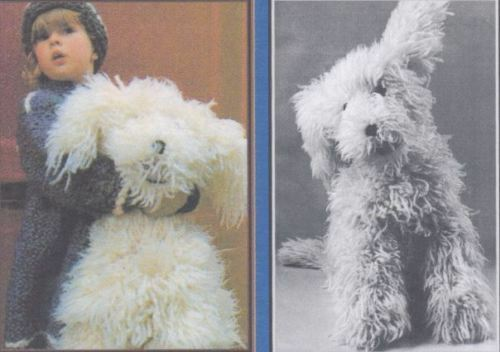 large shaggy dog toy knitting pattern 220
