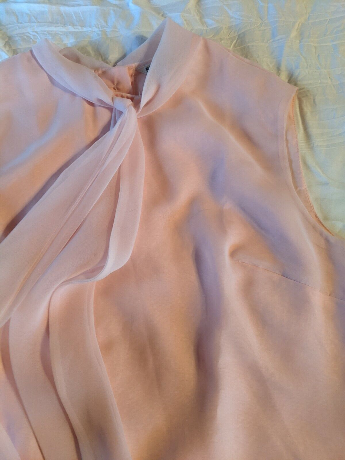VTG Morlove the Couturier Pink Blouse With Neckti… - image 9