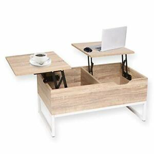 Lift Top Coffee Table with Storage | 80x48x40cm (White)