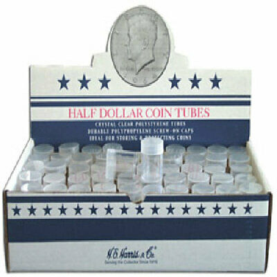 Clear Round Dime Coin Tubes by HE Harris QTY-20