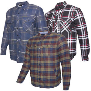 Men's Flannel Plaid Jacket Button Up Classic Fit Cotton Shirt Polyester DBFL