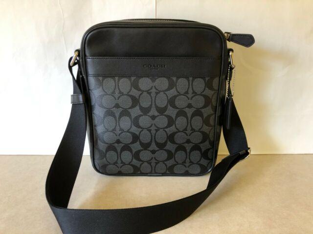 New Authentic Coach Men F37573 Graham Messenger Sling Pack Bag Signature Tan