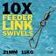 10 X Chargeur Lien émerillons grossiers à Pêche Tackle 21 mm-Taille 8