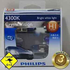 A-Pair-of-Genuine-Philips-H1-12V-4300K-55W-Crystal-Vision-Bulbs