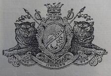 India Morvi State 1937 Navlakhi Port SS TAKADA Arms List signed Captain