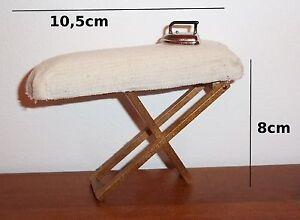 planche table repasser avec fer miniature maison de. Black Bedroom Furniture Sets. Home Design Ideas