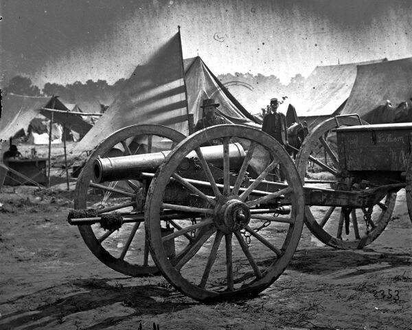 8x10 Civil War Photo Captured Howitzer Cannon at Hanover Court House