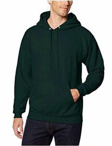 Hanes-Men-039-s-Pullover-EcoSmart-Fleece-Hoodie-Black-Deep-Forest-Size-Small-Mlf
