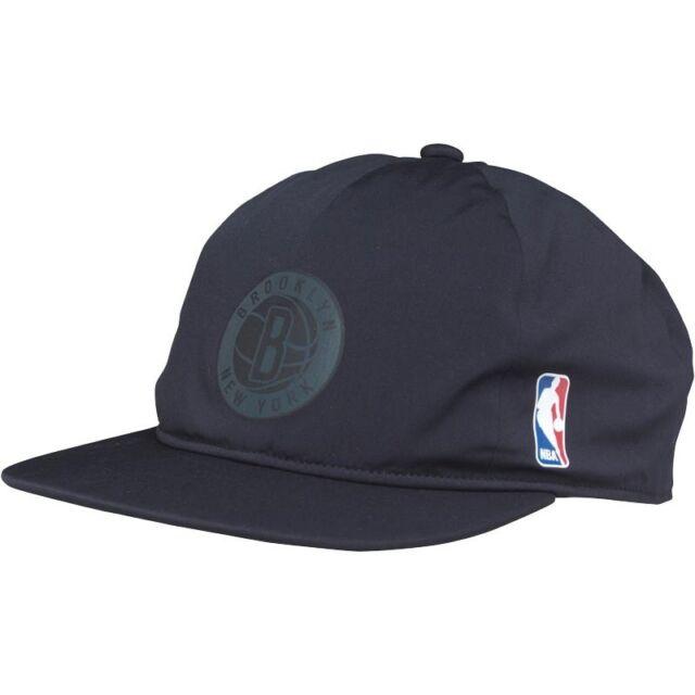 New adidas Originals Mens Brooklyn Nets Snap Back Cap Black 711f5aaf0b9