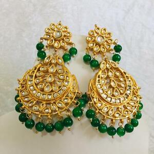 Details About Bollywood Indian Jewellery Ethnic Bridal Wedding Women Pearl Size Earrings