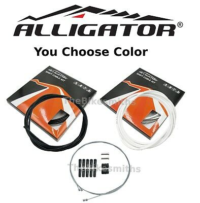 Alligator Shift Gear Slick Cable Braided Kit Front/& Rear fit Shimano SRAM Campy