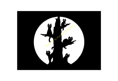 ALBERO di Halloween Stencil CAT A5//A4//A3//A2//A1//A0 350 µ Hall 030