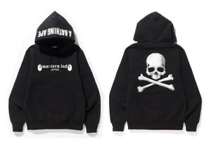 5d21dac1e52 Image is loading BAPE-x-Mastermind-Japan-Pullover-Hoodie-Black-M-a-