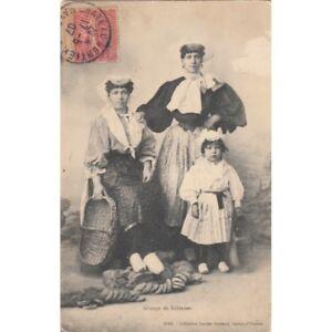 LES-SABLES-D-039-OLONNE-groupe-de-sablaises-timbree-1907