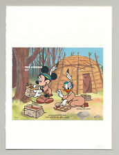 Gambia #1710 Disney, American Indians 1v S/S Imperf Chromalin Proof in Folder