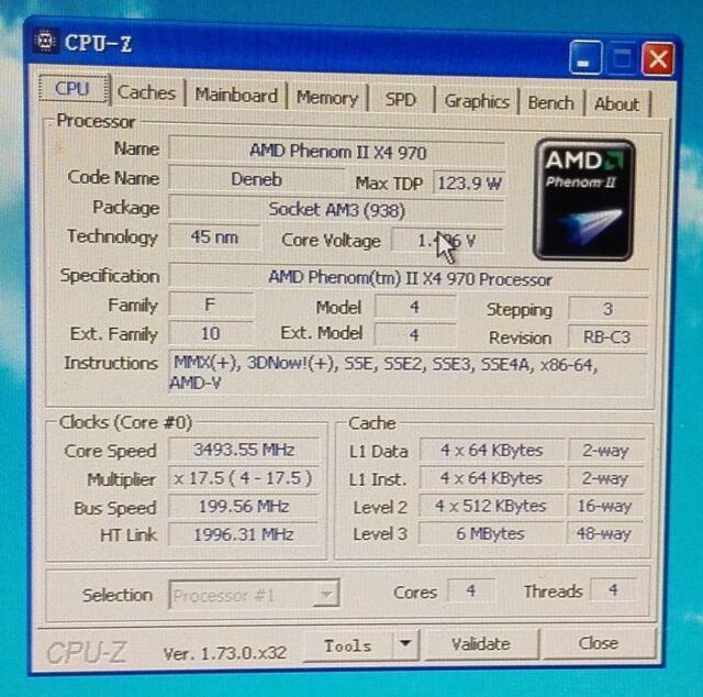 AMD Phenom II X4 970 Black Edition 3 5GHz Quad-Core (HDZ970FBK4DGM)  Processor