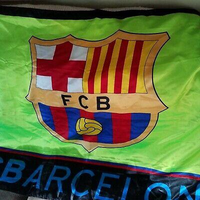 Barcelona Fcb Neon Multi Color Flag Shield Logo Spell Out Soccer Ebay