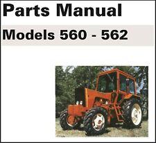 Belarus Tractor 560 562 Service Parts Manual