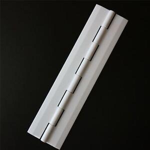 Acryl-Scharnier-150mm-WEIss-Scharniere-Acrylkunststoff-kontinuierlich-Scharnier