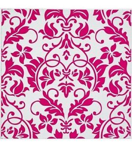 20 Damask Embossed Pink Tile Stickers
