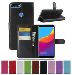 For-Huawei-Y7-Prime-Pro-2018-Flip-Magnetic-Card-Wallet-PU-Leather-Case-Cover