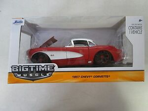 Jada-Toys-Bigtime-Muscle-1957-Chevy-Corvette-Red-White-1-24