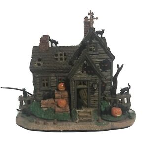 Lemax Spooky Town Vicki's Cattery Black Cat Haunted House Halloween Village 2010