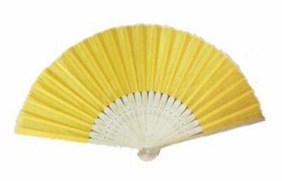 Yellow Silk Fans Asian Beach Garden Wedding Favors