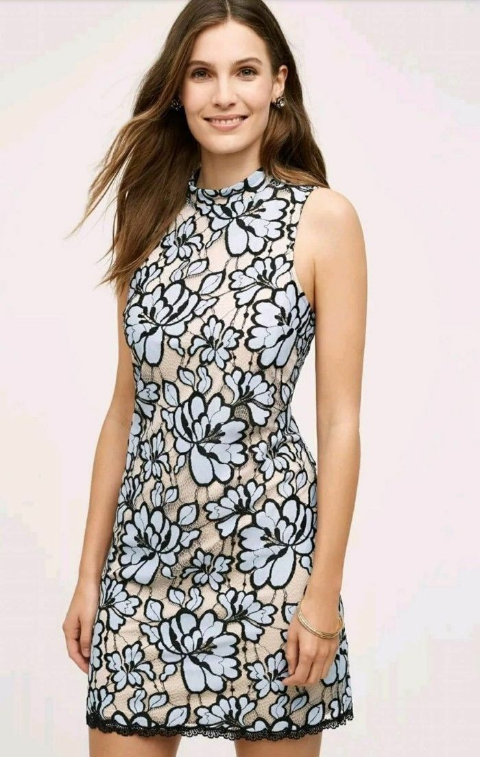 Anthropologie Plenty by Tracy Reese Lin Floral Lace Dress 6