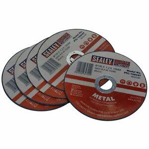 Intelligent Sealey 5 Pack 100 Mm X 1.2 Mm Métal Coupe Fente Disques De Broyage 16 Mm Alésage-afficher Le Titre D'origine