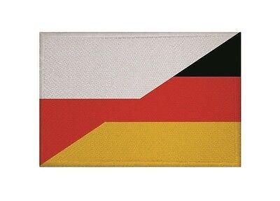 Aufnäher Polen-Deutschland Fahne Flagge Aufbügler Patch 9 x 6 cm