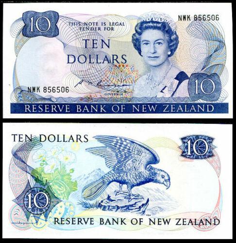 NEW ZEALAND 10 DOLLARS ND 1981-1989 P 172 B RUSSEL UNC