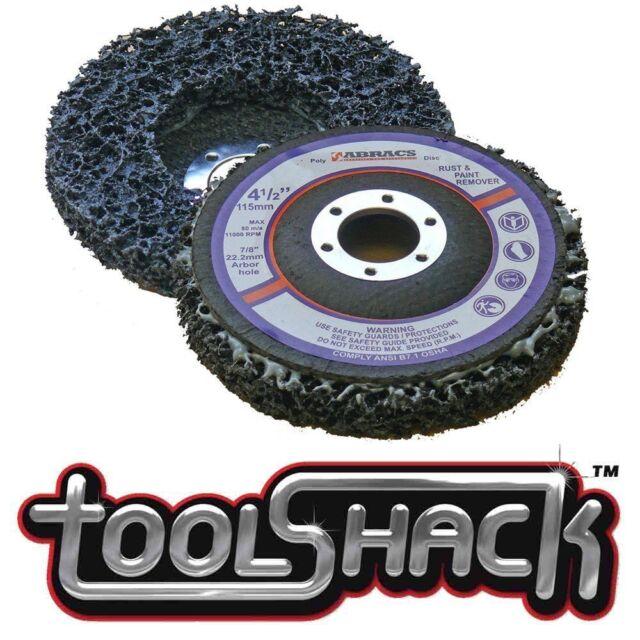 "Abracs 115mm (4-1/2"") Poly Strip Wheel Paint & Rust Removal Flap Disc x 2 Discs"