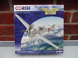 CORGI-AVIATION-1-72-SCALE-MESSERSCHMITT-BF109G-6-RED-8-MOSQUITO-HUNTER-AA27107