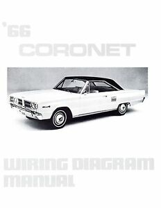details about 1966 66 dodge coronet wiring diagram manual 1966 Dodge Coronet Starter Wiring Diagram