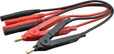 2 Messpinzetten (2x Einzeln oder Kelvin) mit 4mm Steckern für LCR-Meter und DMMs
