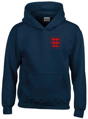 3 LEONI piccoli Crest Inghilterra Coppa del Mondo di Calcio 2018 Felpa con cappuccio da uomo