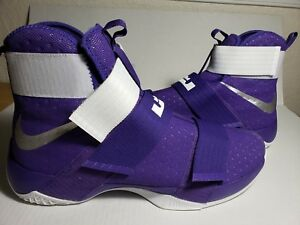 reputable site 50444 03f67 Details about NEW Nike LeBron Soldier 10 X 856489-551 Purple Size 17.5  Lakers Basketball