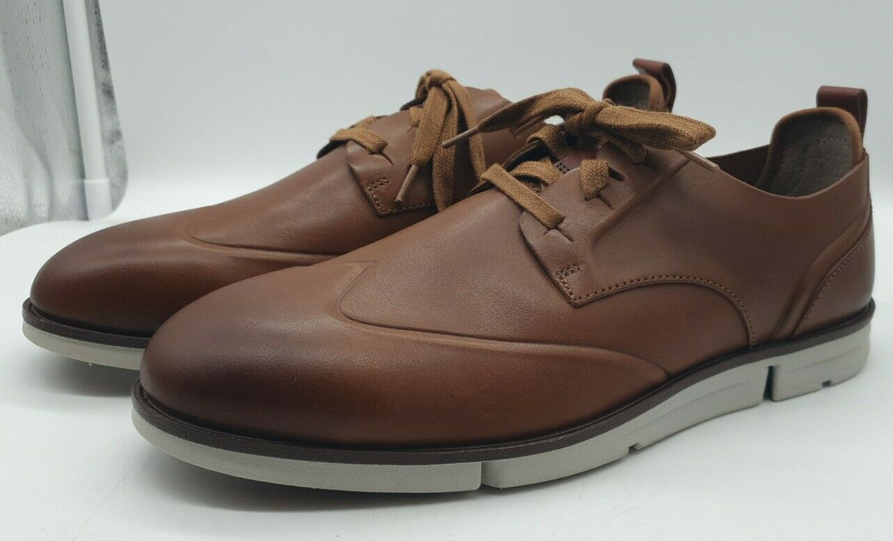 NEW CLARKS TRIGENIC MID TAN SOFT LEATHER BOOTS UK SIZE 7
