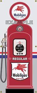 Mobil Pompe à Essence Ordinaire Pegasus Rétro Station Essence Bannière Garage Signe Art 2 X 5-afficher Le Titre D'origine Oer5g4vq-07235322-623012913