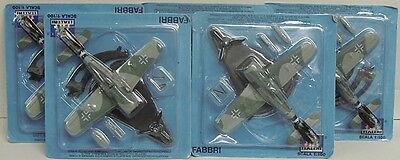 Raccolta Promozioni Fw-190 A, 5 Modelli, Italeri, 1:100, Metallo, Die Cast, Garanzia Al 100%