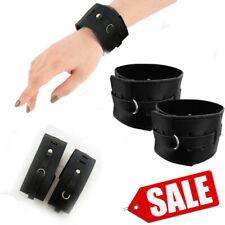 """Genuine Leather Wrist Cuffs Gothic Punk Unisex Bracelets 2/"""" Wrist Cuffs"""