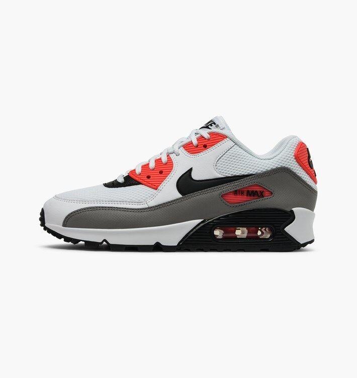 1e83dadfd4bb0 ... spain nuevo nike air max 90 mujeres zapatos blanco negro rojo reducción  de precios el polvo ...