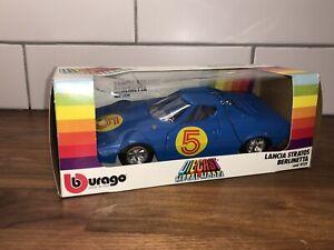 RARE-BOXED-VINTAGE-BURAGO-1-24-LANCIA-STRATOS-BERLINETTA-No-9121