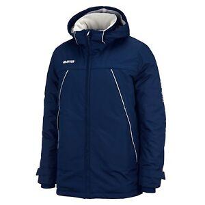 Errea-Islande-Polaire-Double-Veste-Impermeable-Bleu-Marine-Divers-Tailles-Disponibles