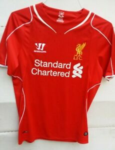huge discount 16059 3b882 Details about Warrior LFC Liverpool Football Club Jersey Standard Chartered  Size S