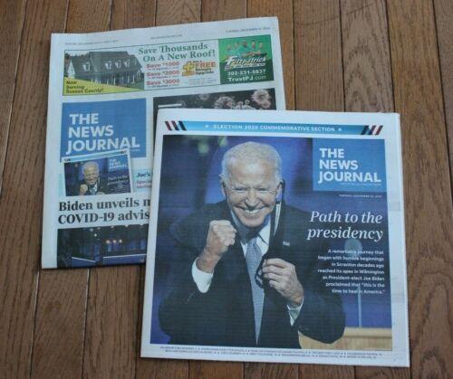 2020 Joe Biden Election 2020 Commemorative Delaware News Journal November 10