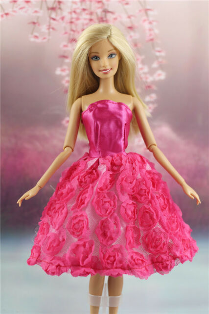 26d6629b3a7 Lovely Fashion Clothes outfit flower Dress for Barbie Doll D01 for ...