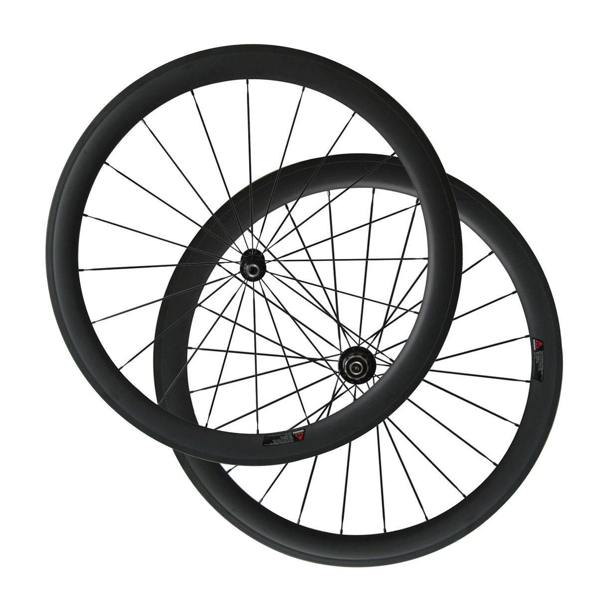 Road Bike Wheelset 700C Clincher 50mm Depth 25mm Width 20 24 Holes Carbon Wheels